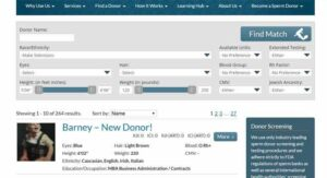 Online Sperm Donor Tool